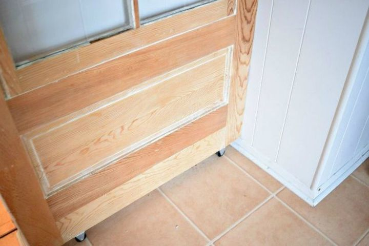 s 10 easy ways to fix your old door in under an hour, doors, Turn your hinged door into a sliding one