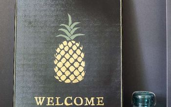 How to Make A Pineapple Welcome Sign for Under $10