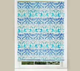easy stenciled mini blinds diy bedroom ideas home decor painted furniture