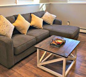 Diy Coffee Table, Basement Ideas, Living Room Ideas, Painted Furniture,  Rustic Furniture