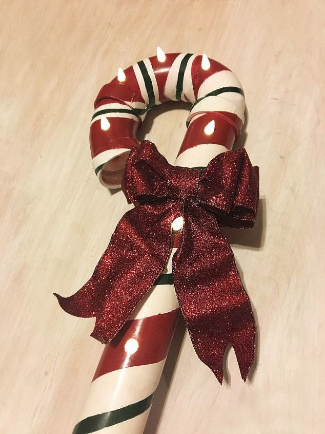 pvc lit candy canes, concrete masonry, crafts, decks, doors, home decor, painting, plumbing, seasonal holiday decor, tools, wreaths