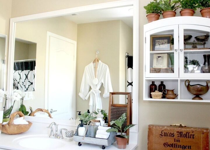 DIY Mirror Frame Kit & Simple Bathroom Decor   Hometalk