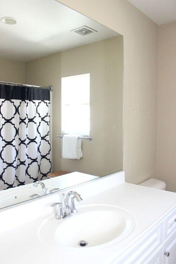 Diy Mirror Frame Kit Simple Bathroom Decor Ideas Home
