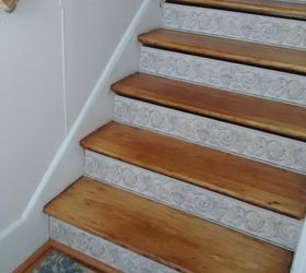 Perfect Stair Risers Wallpaper Border, Stairs, Wall Decor, Beautiful Inexpensive  Easy