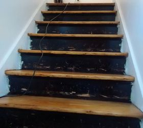 Exceptional Stair Risers Wallpaper Border, Stairs, Wall Decor, Before Gouged Paint  Blotchey Surfaces