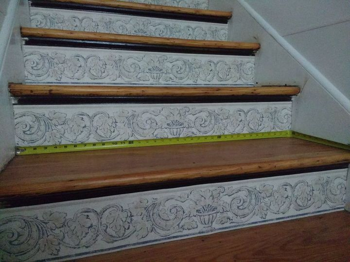 """Upper steps are just about 36"""" wide"""