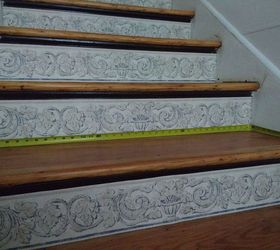 Stair Risers Wallpaper Border, Stairs, Wall Decor, Upper Steps Are Just  About 36