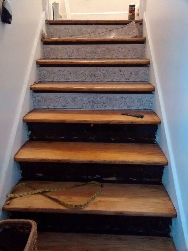 Stair Risers Wallpaper Border Hometalk