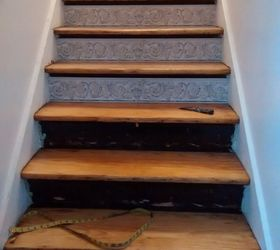 Stair Risers Wallpaper Border, Stairs, Wall Decor, Wallpaper Blade To Help  With Adjustments
