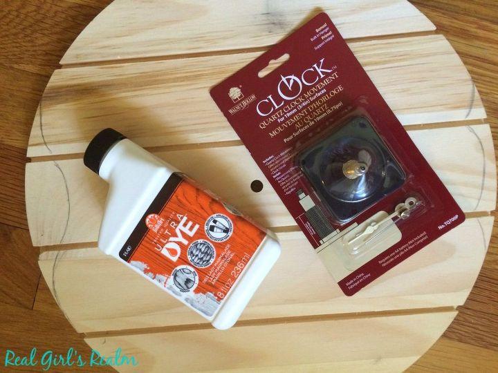 diy pumpkin clock, crafts, home decor, pallet, woodworking projects