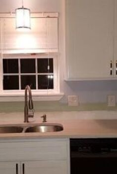 re purpose left over blind slats, countertops, home decor, kitchen backsplash, kitchen cabinets, kitchen design, painting, Before