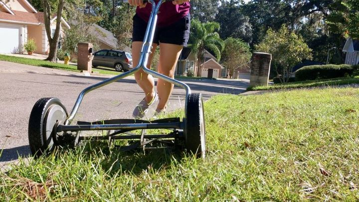 manual push mower for small yard maintenance, gardening, how to, lawn care, outdoor living, tools