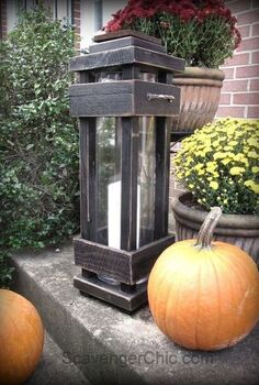 diy exterior porch lanterns, home decor, lighting, outdoor living, pallet, woodworking projects