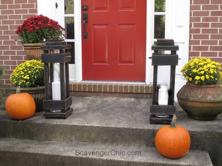 Diy Exterior Porch Lanterns Home Decor Lighting Outdoor Living Pallet Woodworking