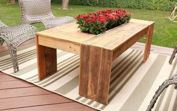 rustic pallet wood coffee table with drink cooler, painted furniture, pallet