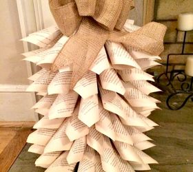 Recycled Book Page Mini Christmas Tree Tutorial, Christmas Decorations, Home  Decor, How To