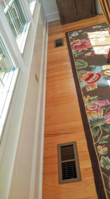 s hide your ugly vent with these 7 brilliant ideas, hvac, The problem A huge eyesore by the entrance