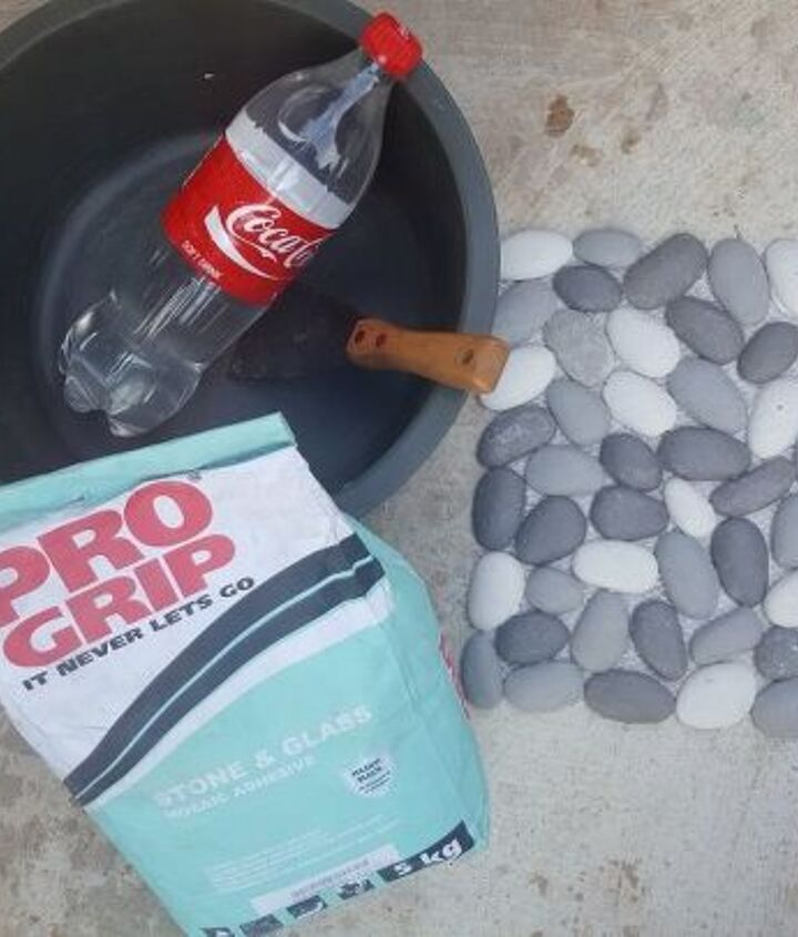 how to tile a patio wall in a morning, container gardening, home maintenance repairs, how to, outdoor living, patio, tiling