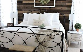 pallet board master bedroom wall, bedroom ideas, pallet