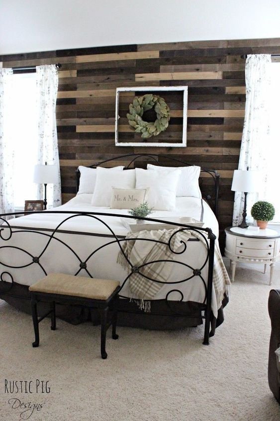 Pallet Board Master Bedroom Wall | Hometalk on Pallet Bedroom Design  id=70086