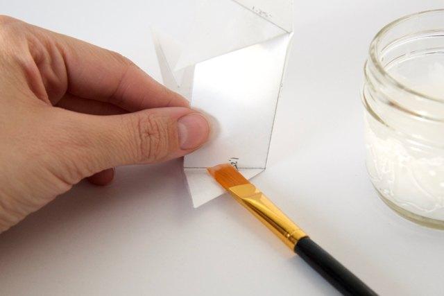 glue the corner triangles in