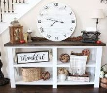 diy farmhouse clock, crafts, how to, painting, rustic furniture