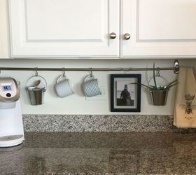 Lovely Declutter Kitchen Countertop With A Curtain Rod, Countertops, Home Decor,  Kitchen Design,