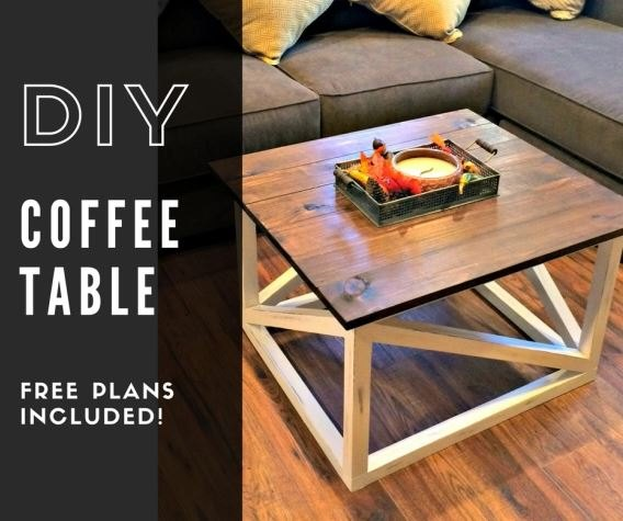 diy coffee table, basement ideas, living room ideas, painted furniture, rustic furniture, woodworking projects