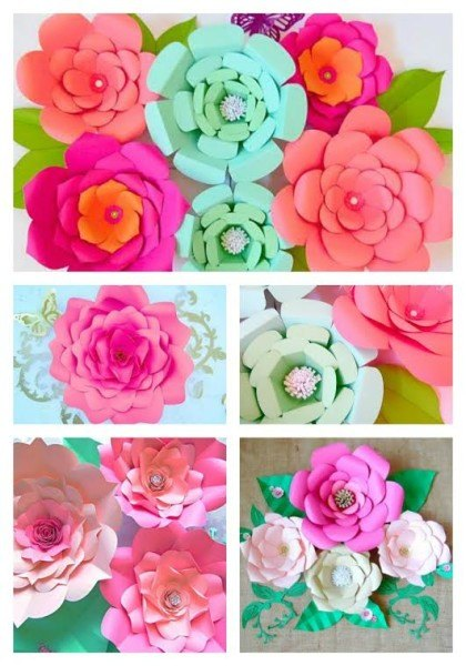 How To Make Easy Diy Giant Paper Flowers Hometalk