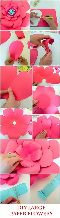 How to make easy diy giant paper flowers hometalk how to make easy diy giant paper flowers crafts gardening how to mightylinksfo Gallery