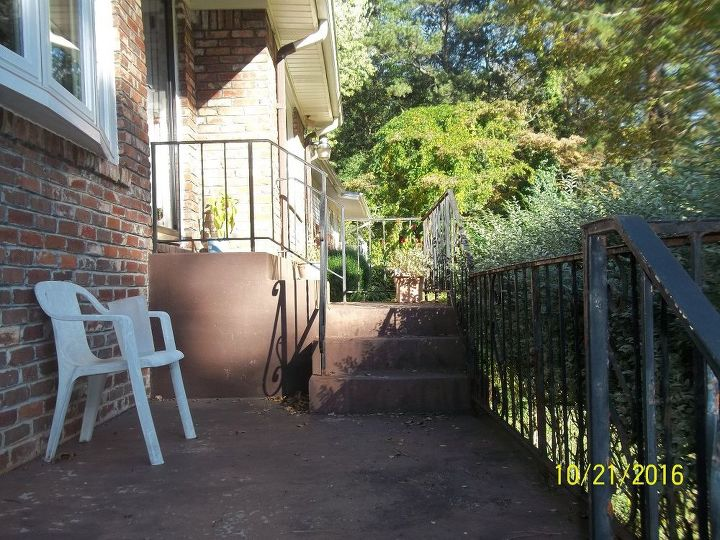 q rusted iron railings cleaning painting, painted furniture, painting