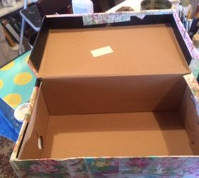 Beau Shoe Box Storage, Decoupage, Storage Ideas