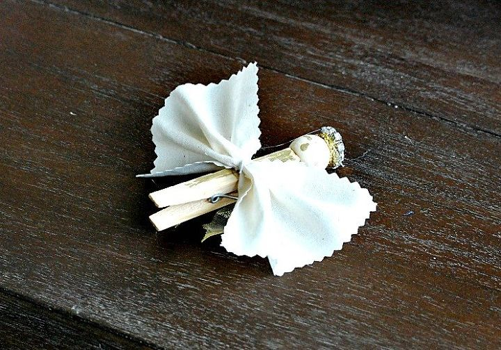 diy christmas clothespin angels, crafts, home decor, reupholster