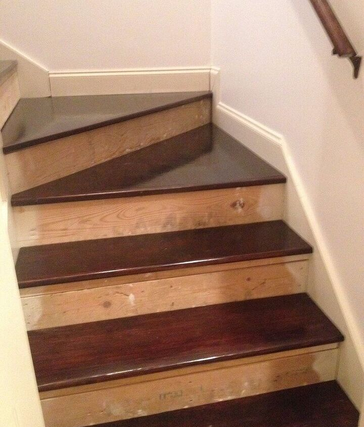 Gorgeous retro-fitted fir treads gleam!
