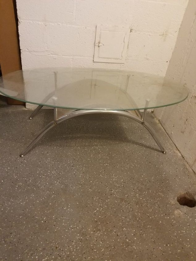 q glasstop coffee table into sitting bench , repurposing upcycling
