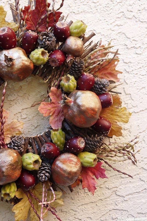 Miraculous A Fall Wreath Creation Sonoran Desert Style Hometalk Ocoug Best Dining Table And Chair Ideas Images Ocougorg