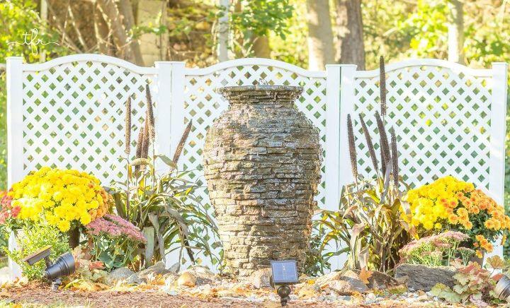 Newly planted water feature garden - DIY Backyard Water Fountain Hometalk