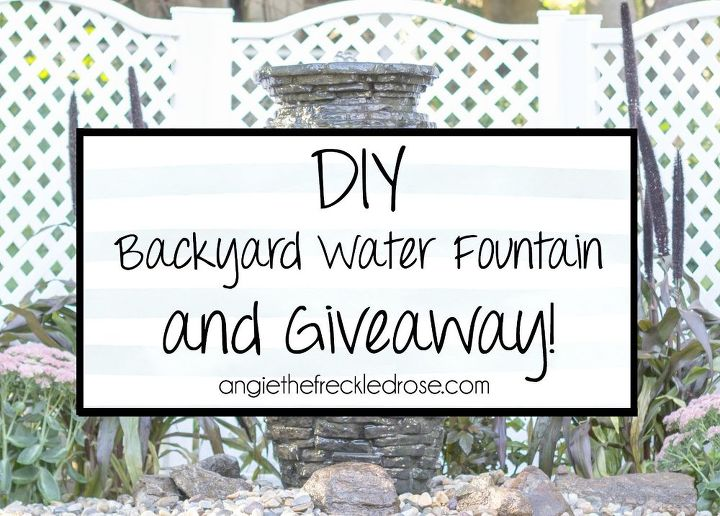 diy backyard water fountain, gardening, home decor, home maintenance repairs, landscape, outdoor living, ponds water features