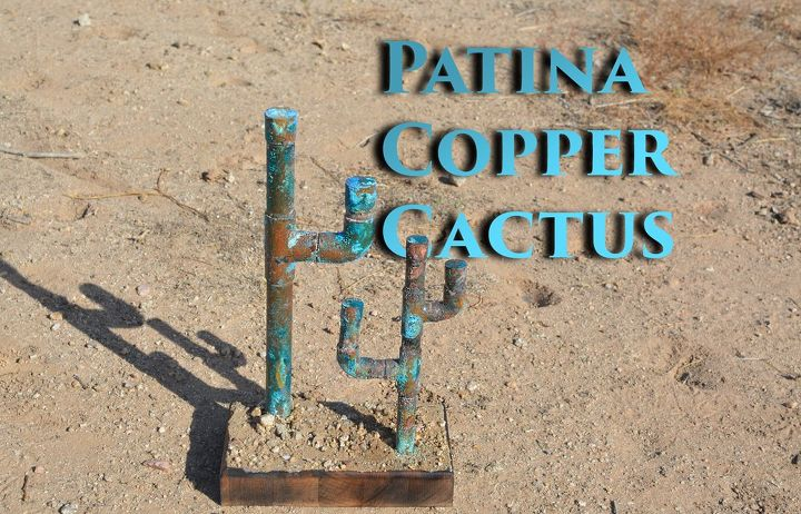 easy patina copper cactus with kitchen ingredients, crafts, gardening, home decor, kitchen design, painting, thanksgiving decorations
