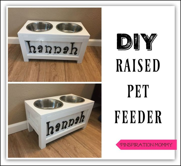 diy personalized elevated pet feeder, bedroom ideas, crafts, outdoor living, repurposing upcycling, tools, wall decor, woodworking projects