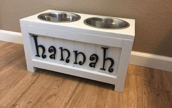 DIY Personalized Elevated Pet Feeder