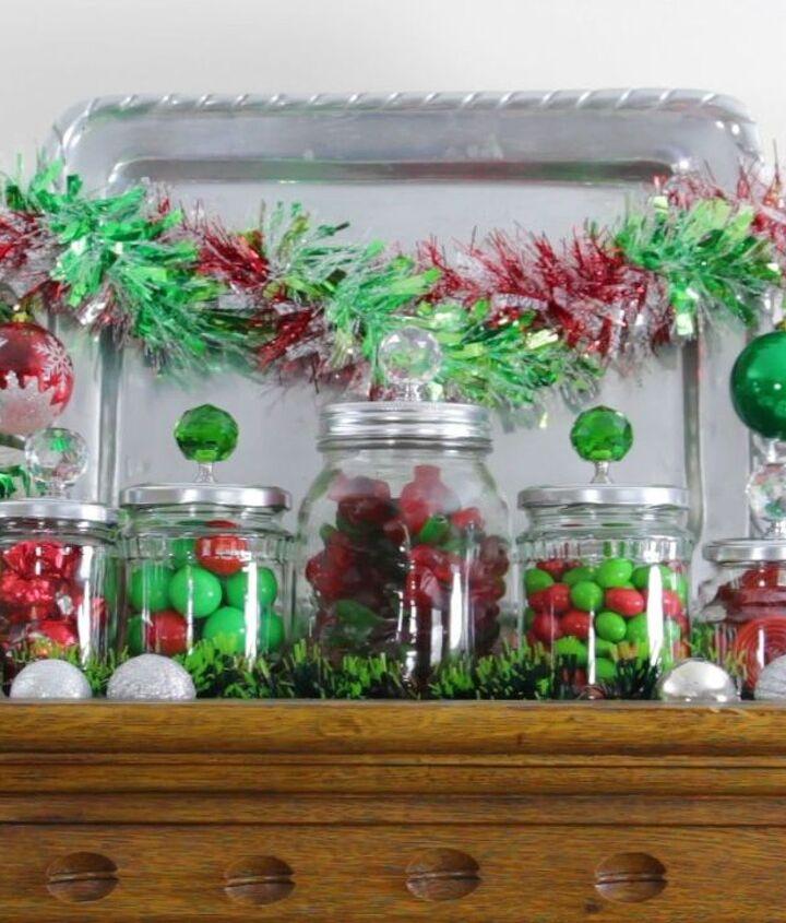 christmas jars, christmas decorations, crafts