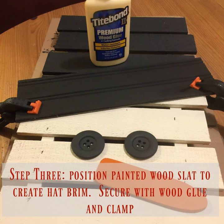 Securing the brim with wood glue
