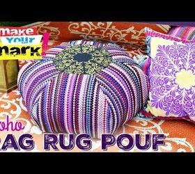 boho room decor diy.htm rag rug floor pouf diy hometalk  rag rug floor pouf diy hometalk