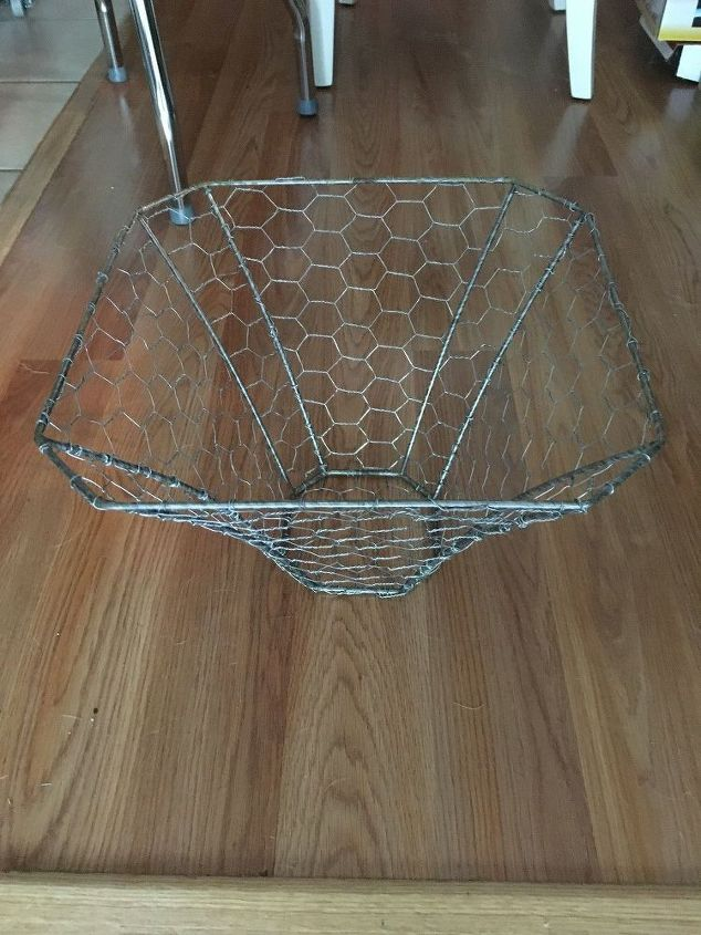New life for a busted lamp shade with chicken wire hometalk new life for a busted lamp shade with chicken wire lighting window treatments keyboard keysfo Choice Image