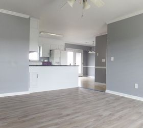 I would suggest you begin your own Question thread and add photos is possible. The painting and new flooring has been installed in my new home. & What is the best gray color for interior walls? | Hometalk
