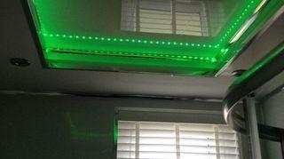 , We put wet walling on ceiling added led lights