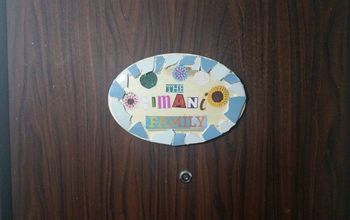 Simple and Fun Front Door Name Plate