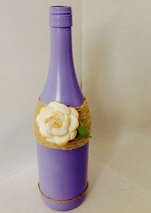 decorative wine bottles, crafts