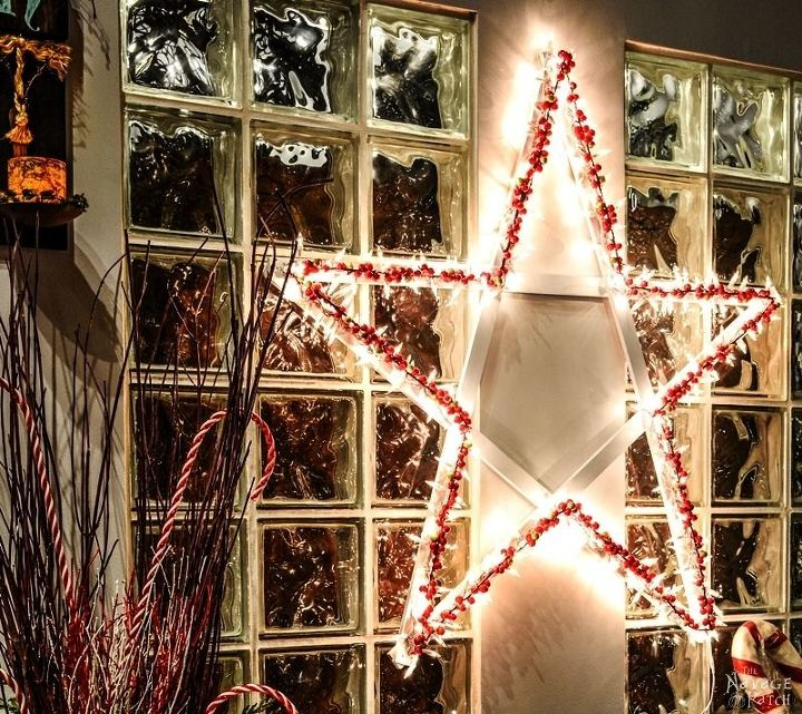 Diy Christmas Light Decoration Ideas: She Wraps Christmas Lights Around Wood Slats. What It